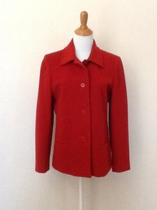 Casual Corner Wool Red Jacket