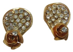 Other FLOWER CLIP EARRINGS RHINESTONES