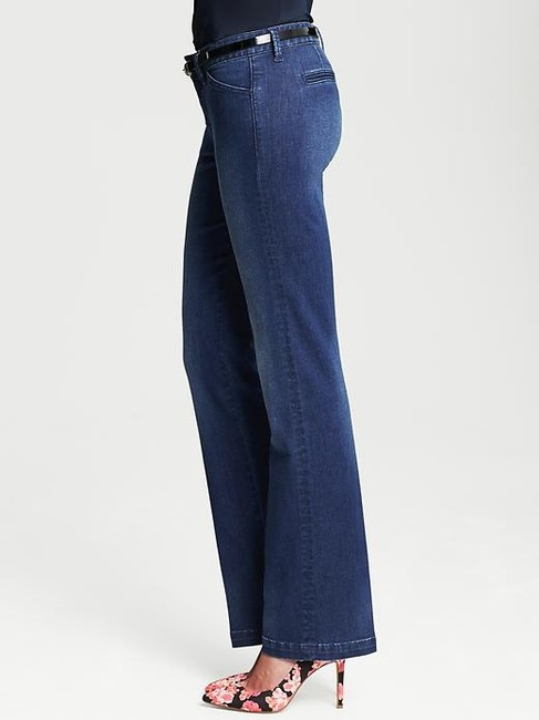 Banana Republic Trouser/Wide Leg Jeans-Medium Wash