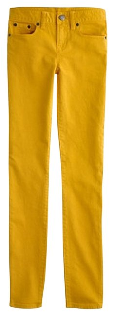 Item - Mustard Toothpick In Garment-dyed Twill Skinny Jeans Size 26 (2, XS)