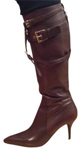 Cesare Paciotti Leather Pointy Toe Brown Boots