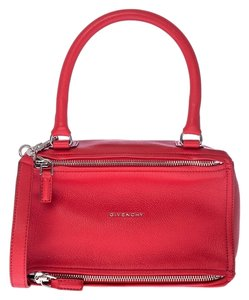 Givenchy Blue Peekaboo Satchel in Red