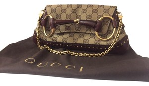 Gucci Chains Burgundy, Browns and Gold Clutch