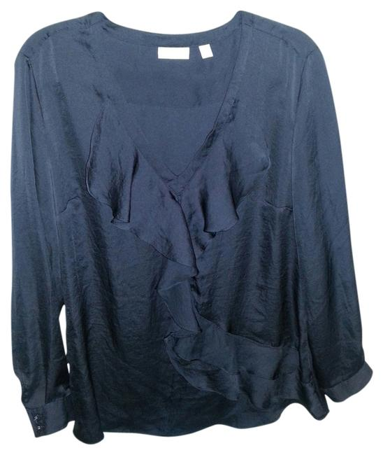 New York & Company Black Loose Flowy Top