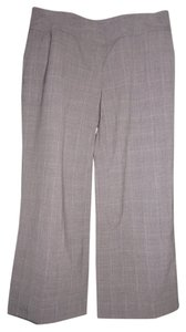 Ann Taylor Wool Lycra Stretchy Capri/Cropped Pants Brown Plaid, Multi-Color