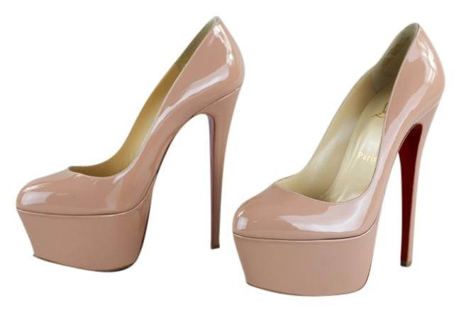 Christian Louboutin Beige Victoria Patent Leather Pumps - 39/9 (Beige) Platforms Size US 9 Regular (M, B) Christian Louboutin Beige Victoria Patent Leather Pumps - 39/9 (Beige) Platforms Size US 9 Regular (M, B) Image 1