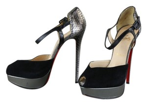 Christian Louboutin Black/Metallic Pumps