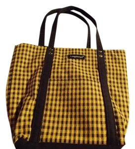 Longaberger Tote in Tan Checkered
