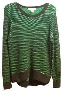 Michael Kors Drop Waist Comfortable Casual Oversized Warmth Long Sleeve Geometric Relaxed Sweater
