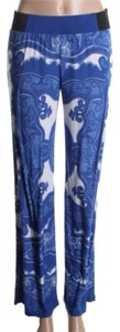 INC International Concepts Relaxed Pants Blue white