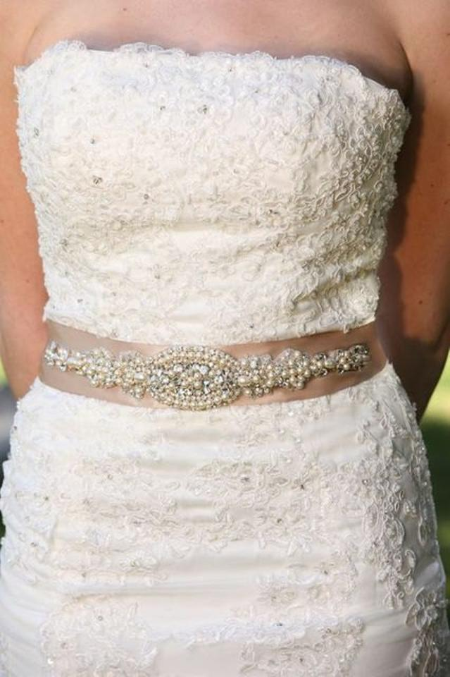 Valentina Dress Gown Crystal Embellishment Brooch Beaded Belt with ...