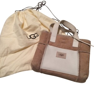 UGG Australia Satchel in Tan/white