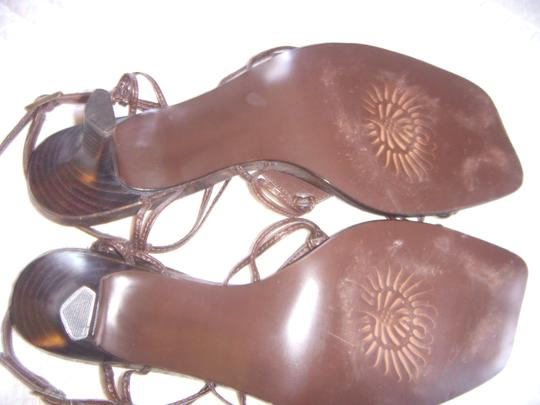 Carlos Santana Never Used Carlos Strappy 7.5 New Brown w/ Bronze Accents Sandals