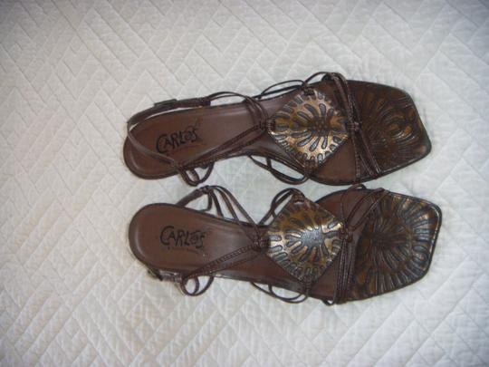 Carlos by Carlos Santana Never Used Strappy 7.5 New Brown w/ Bronze Accents Sandals