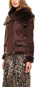 Beulah Bomber Faux Fur Faux Shearling Motorcycle Jacket
