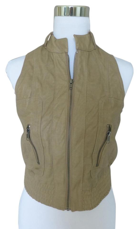 Bar Iii Faux Leather Motorcycle Vest