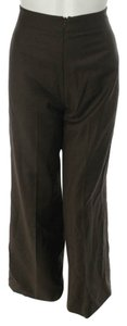 Carolina Herrera Couture Designer Trousers Straight Pants Chocolate