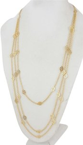 Tory Burch NEW Tory Burch Multi Strand Logo Necklace in 16k Gold