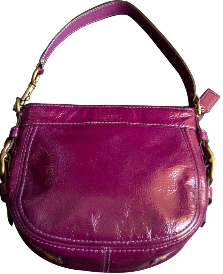 Coach Zoe 41869 Patent Leather Like New Shoulder Bag