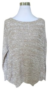 Miss Kelly 1999 Sequins Asymmetrical Hem Sweater