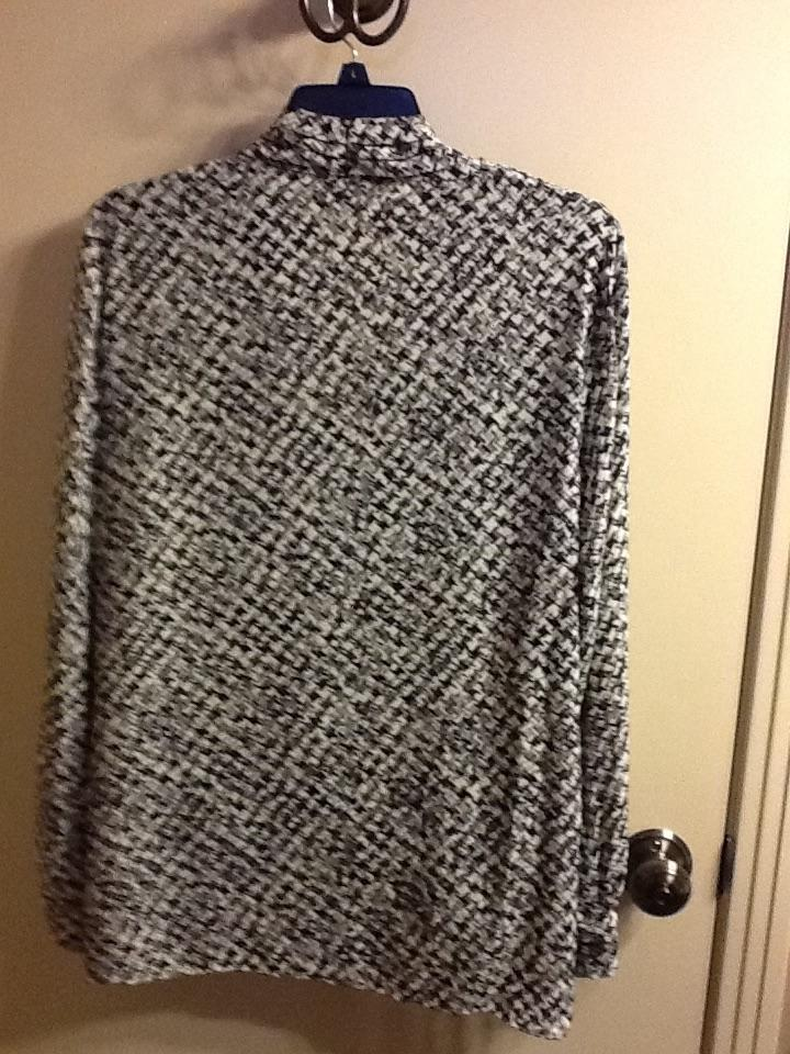 Camuto White Grey Black Blouse New Vince d5wxqSd