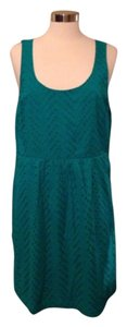 Ann Taylor LOFT short dress Teal on Tradesy