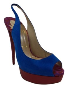 Christian Louboutin Slingback Multicolored Platforms