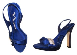 Nina Shoes Sling Back Blue Royal Blue Wedding Shoes