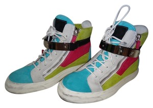Giuseppe Zanotti White/Blue/Yellow/Fushia Athletic