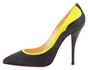 Christian Louboutin Colorblock Pointed Toe Glitter Sparkle Pumps