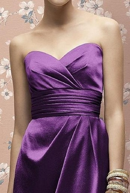 Lela Rose Cocktail Length Strapless Satin Dress