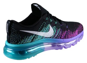 Nike Running Ulta Light Nike Women's Air Max Flyknit - BRAND NEW - ON SALE NOW - Black, Venom Purple, Green - Women's Size 6.5 Athletic