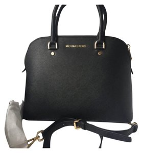 Michael Kors Cindy Large Dome Black Saffiano Leather Satchel - Tradesy f3aac845edcac