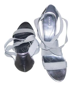 Tahari Pewter Sandals