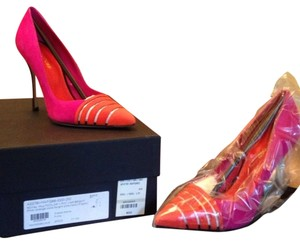 Sergio Rossi Multicolor Pink, orange, black Pumps