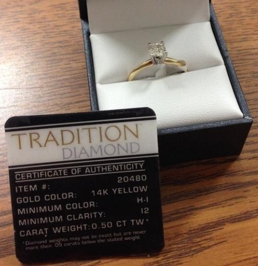 Yellow .5ct. 14k Gold Diamond Solitaire Engagement Ring