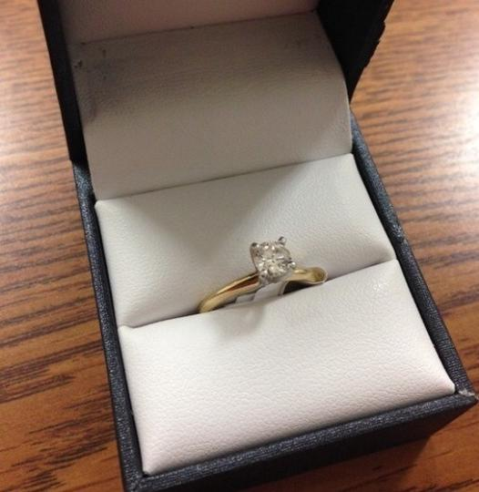 .5ct. 14k Yellow Gold Authentic Diamond Solitaire Engagement Ring