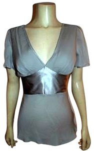 Express Small Silk Top GRAY, SILVER