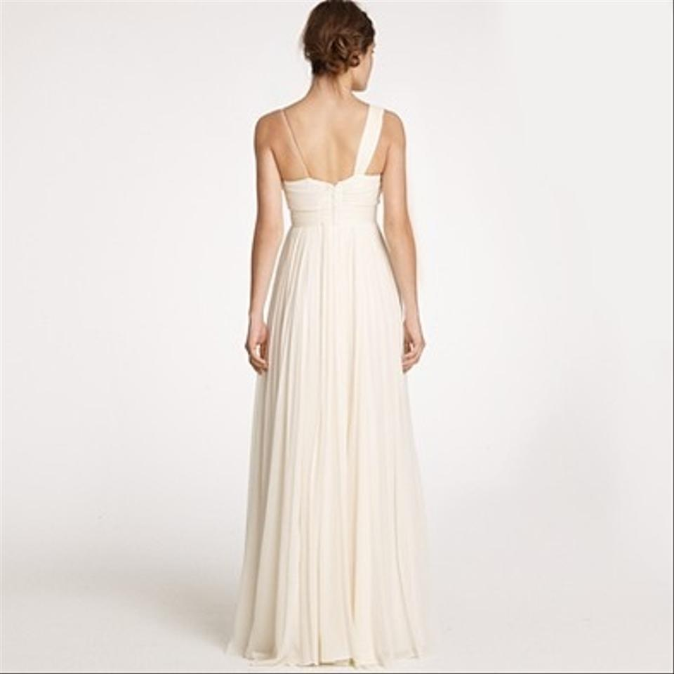JCrew Ivory Chiffon Dune Gown Wedding Dress Size 12 L 1234