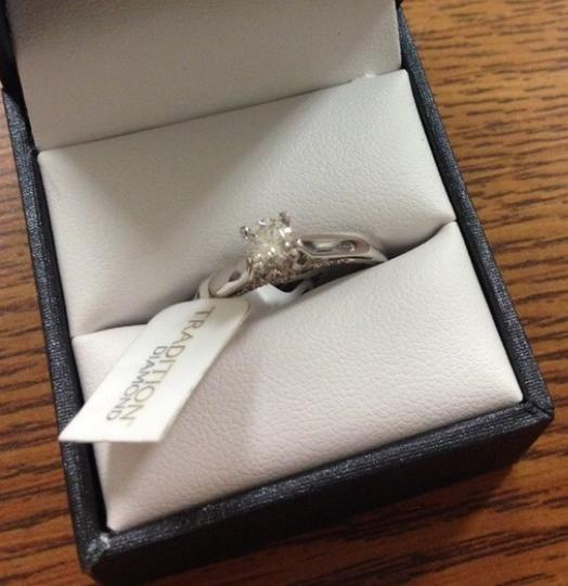 White .5ct. Diamond Solitaire 10k Gold Engagement Ring Image 1