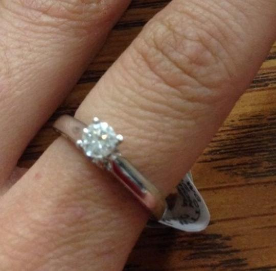 White .5ct. Diamond Solitaire 10k Gold Engagement Ring Image 2