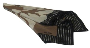 Bill Blass Bill Blass brown silk polka dot scarf
