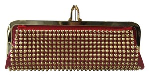 Christian Louboutin Miss Loubi Red Patent Gold Red/Gold Clutch