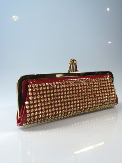 Christian Louboutin Miss Loubi Patent Red/Gold Clutch