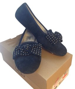UGG Australia Suede Studded Bow Black Flats