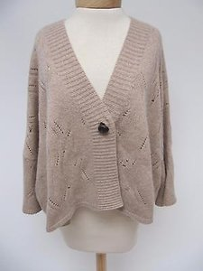Womens Zen Cashmere Tan Elbow Sweater