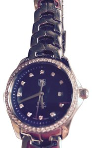 TAG Heuer ON SALE: TAG HEUER LINK WOMENS BLUE MOTHER OF PEARL STAINLESS STEEL DIAMOND WATCH WJF131G.FD2283