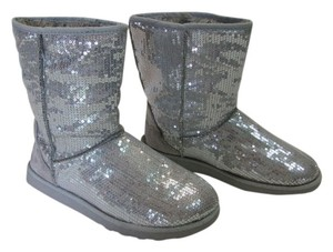 SO Size 8.00 Sequins SILVER Boots