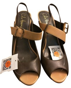 Cole Haan Hann Summer Anklestrap Green and Tan Sandals