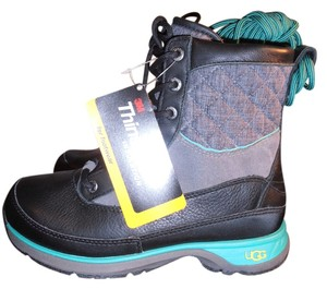 UGG Australia Waterproof black/grey/teal Boots